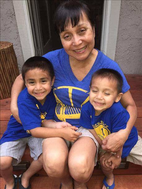 <div class='meta'><div class='origin-logo' data-origin='none'></div><span class='caption-text' data-credit='Photo submitted to KGO-TV by KatrinK15/uReport'>Katrina says she and her family are big Warriors fans and want a Game 6 win! Tag photos on Twitter, Instagram, Facebook or Google Plus using #DubsOn7.</span></div>