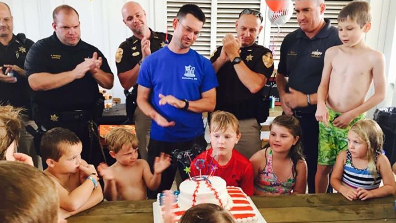 9 Year Old Boy Wishes For Donations Fallen Police Officers Kids Rather Than Birthday Gifts