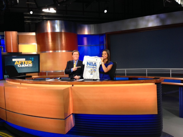 "<div class=""meta image-caption""><div class=""origin-logo origin-image none""><span>none</span></div><span class=""caption-text"">ABC7 anchors Dan Ashley and Ama Daetz celebrate the Warriors NBA championship, Wednesday, June 16, 2015. (KGO-TV)</span></div>"