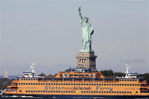 """<div class=""""meta image-caption""""><div class=""""origin-logo origin-image none""""><span>none</span></div><span class=""""caption-text"""">The Statue of Liberty arrived in New York Harbor on June 17, 1885. (AP Photo/Mark Lennihan) (AP Photo/ Mark Lennihan)</span></div>"""