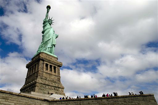 "<div class=""meta image-caption""><div class=""origin-logo origin-image none""><span>none</span></div><span class=""caption-text"">The Statue of Liberty arrived in New York Harbor on June 17, 1885. (AP Photo/John Minchillo) (AP Photo/ John Minchillo)</span></div>"