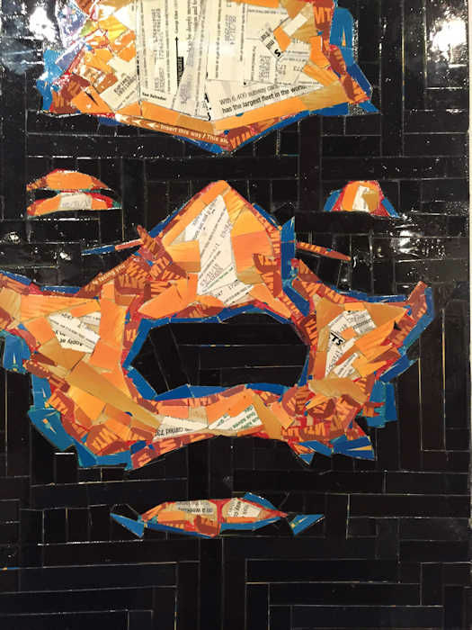 "<div class=""meta image-caption""><div class=""origin-logo origin-image none""><span>none</span></div><span class=""caption-text"">MTA cards transformed into art by Brooklyn artist Juan Carlos Pinto (Photo/Tim Fleischer)</span></div>"