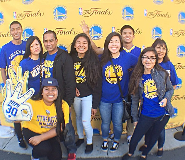 <div class='meta'><div class='origin-logo' data-origin='none'></div><span class='caption-text' data-credit='Photo submitted to KGO-TV by Ana Batoon/Instagram'>Ann and her friends have the Warriors spirit! Tag pics on Twitter, Facebook, Google Plus and Instagram using #DubsOn7.</span></div>