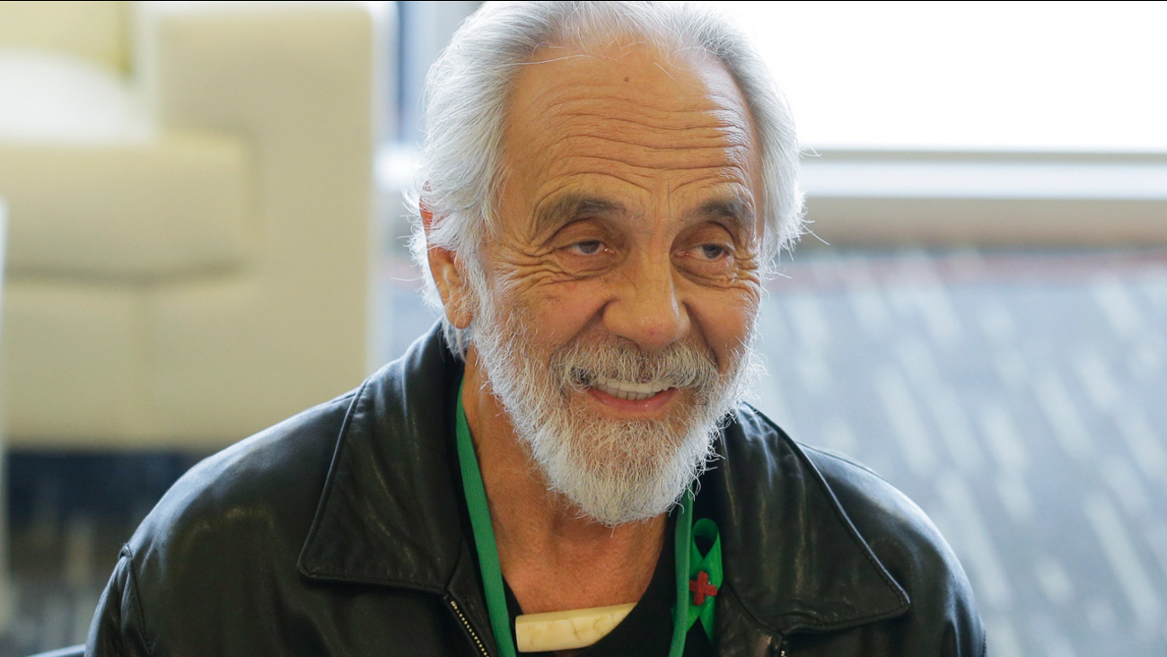 In this Feb. 19, 2015 file photo, comedian and marijuana icon Tommy Chong, talks about his line of marijuana products.