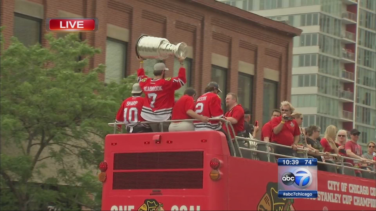 Blackhawks Championship Celebration - Parade Part 3