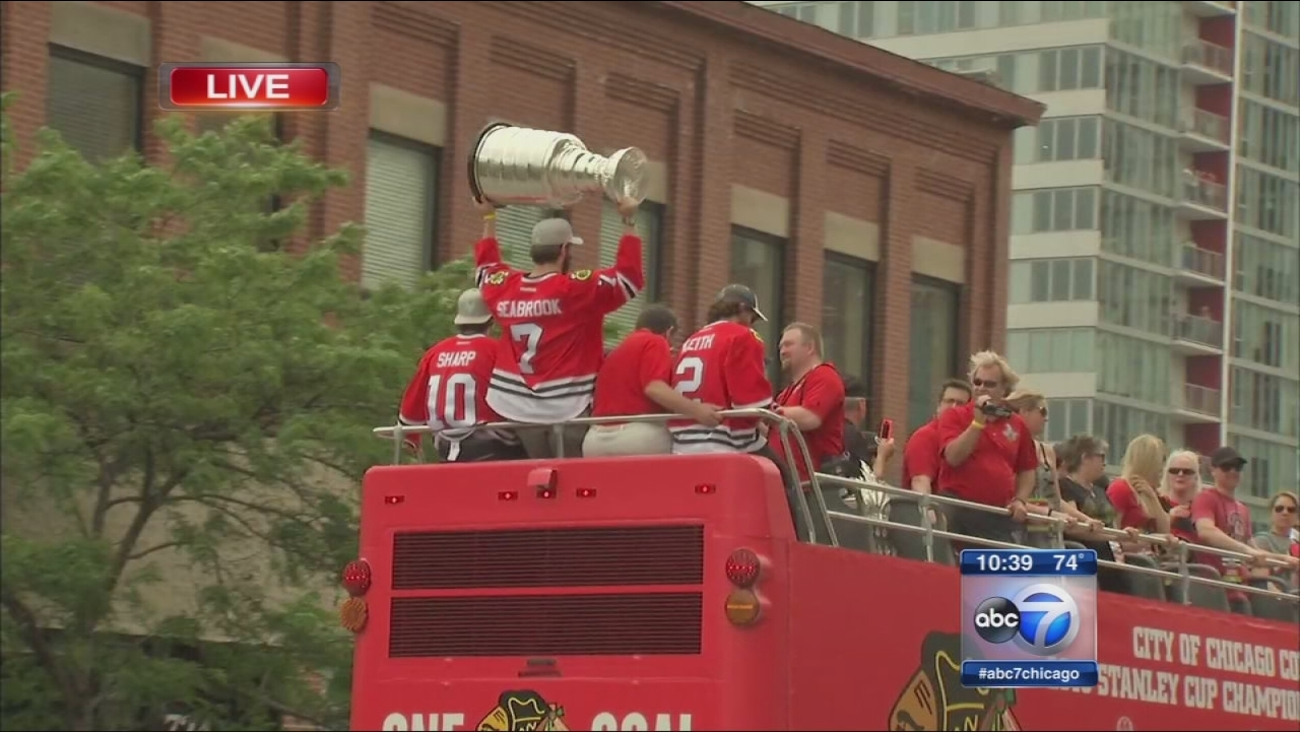 Blackhawks Championship Celebration - Parade Part 3