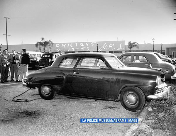 """<div class=""""meta image-caption""""><div class=""""origin-logo origin-image none""""><span>none</span></div><span class=""""caption-text"""">This photo is featured in the book """"LAPD 53"""" by crime writer James Ellroy and Glynn Martin. (LA Police Museum/Abrams Image)</span></div>"""