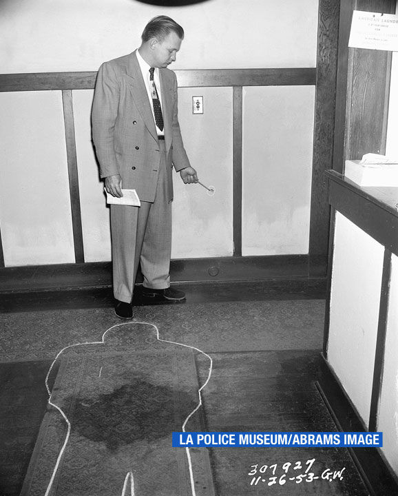 """<div class=""""meta image-caption""""><div class=""""origin-logo origin-image none""""><span>none</span></div><span class=""""caption-text"""">This photo is featured in the book """"LAPD 53"""" by James Ellroy and Glynn Martin. (LA Police Museum/Abrams Image)</span></div>"""