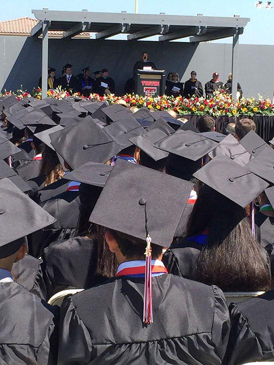 "<div class=""meta image-caption""><div class=""origin-logo origin-image none""><span>none</span></div><span class=""caption-text"">The principal of Tustin Union High School gives a short speech before awarding graduates their diplomas. (KABC)</span></div>"