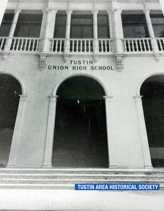 """<div class=""""meta image-caption""""><div class=""""origin-logo origin-image none""""><span>none</span></div><span class=""""caption-text"""">Tustin Union High School is shown in photo from the 1940s. (Tustin Area Historical Society)</span></div>"""