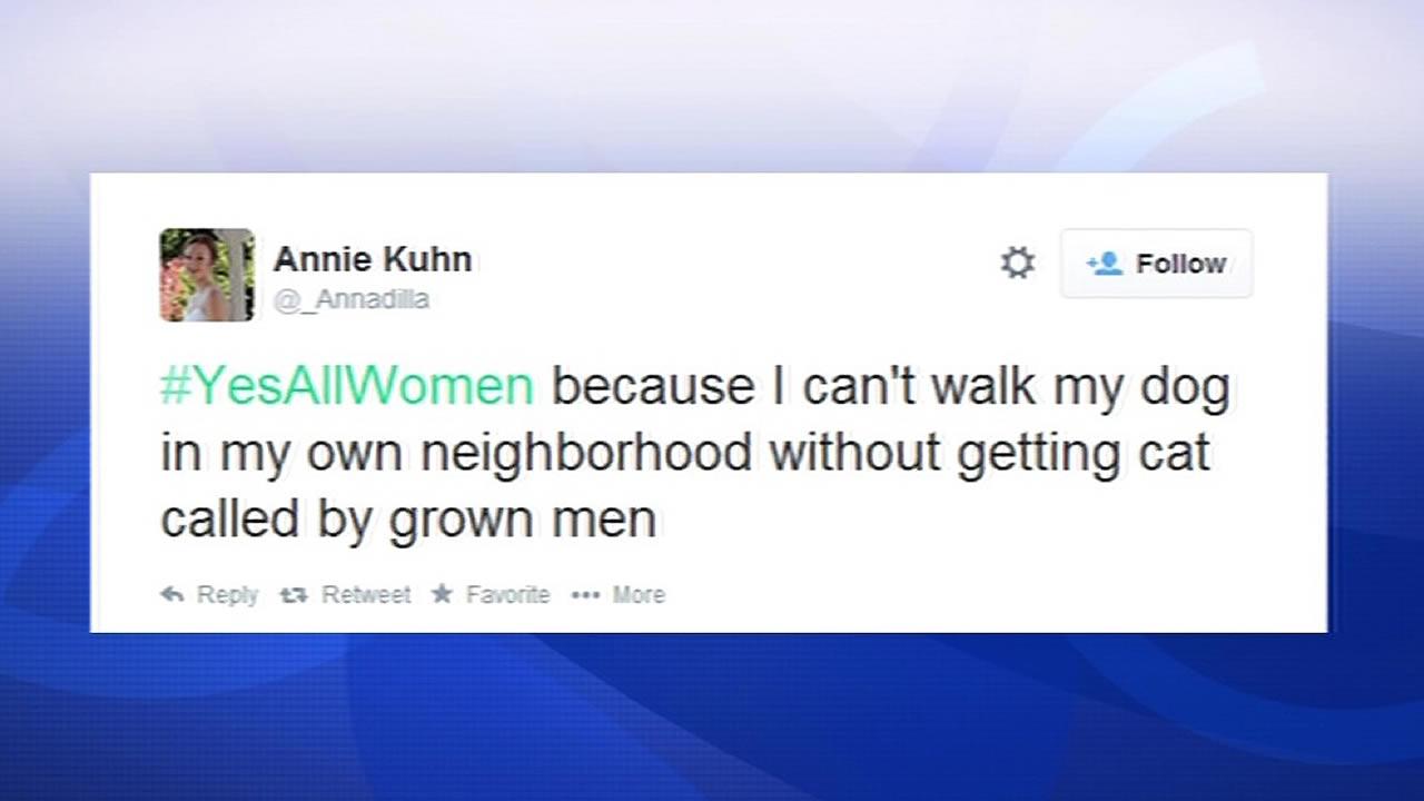 YesAllWomen tweet