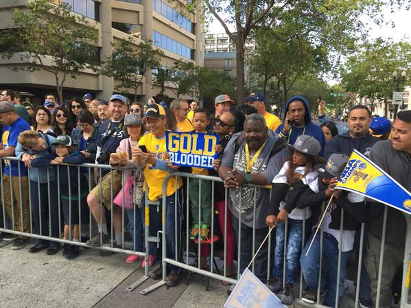 "<div class=""meta image-caption""><div class=""origin-logo origin-image none""><span>none</span></div><span class=""caption-text"">Warrior fans can't wait for celebration to begin in Oakland on June 19, 2015. (ABC7 News/Mike Shuman)</span></div>"