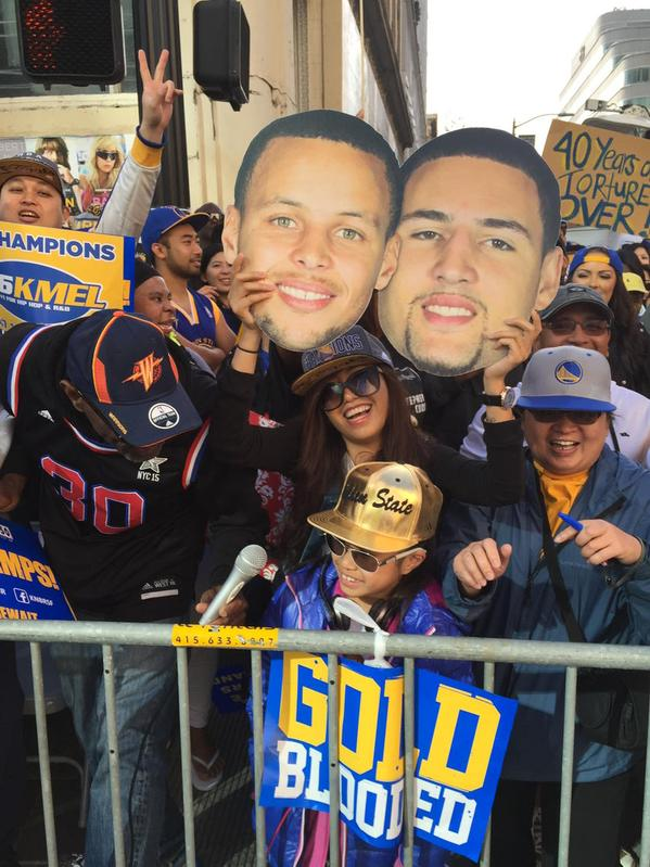 "<div class=""meta image-caption""><div class=""origin-logo origin-image none""><span>none</span></div><span class=""caption-text"">Warriors fans at the Golden State Warriors parade in Oakland on Friday, June 19, 2015. (ABC7 News/Mike Shuman)</span></div>"