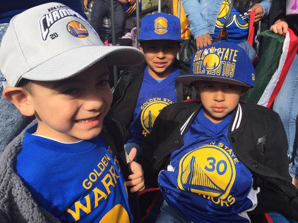 "<div class=""meta image-caption""><div class=""origin-logo origin-image none""><span>none</span></div><span class=""caption-text"">Young Warriors fans at the Golden State Warriors parade in Oakland on Friday, June 19, 2015. (ABC7 News/Lyanne Melendez)</span></div>"