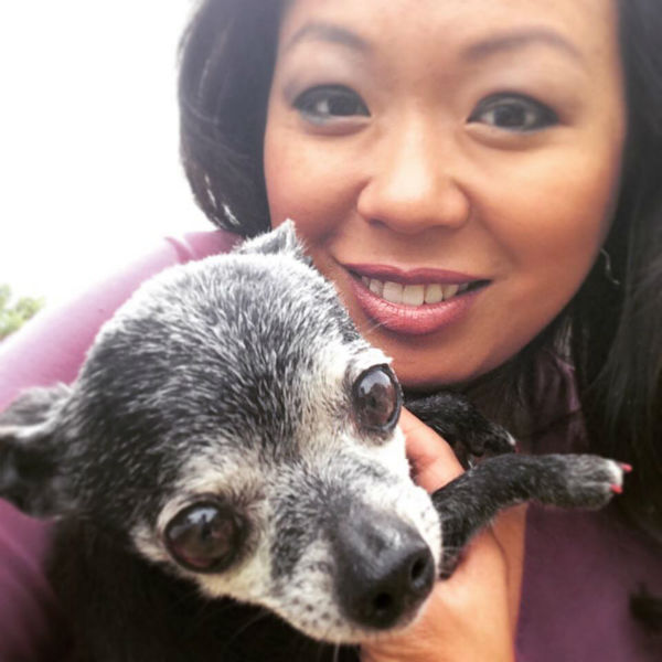 """<div class=""""meta image-caption""""><div class=""""origin-logo origin-image none""""><span>none</span></div><span class=""""caption-text"""">Miya Shay with the dog from her story (KTRK Photo)</span></div>"""