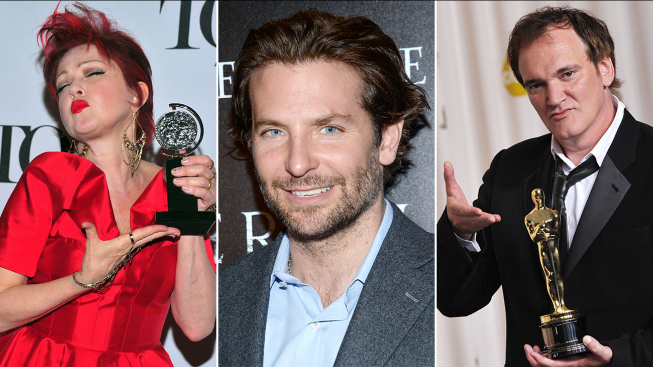 Cyndi Lauper, Bradley Cooper and Quentin Tarantino are among the 29 famous names to be added to the Hollywood Walk of Fame in 2016.