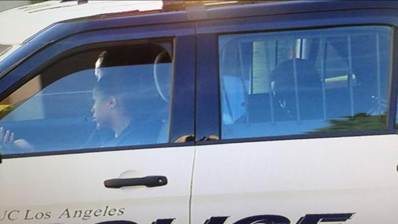 Sean 'Diddy' Combs is transported in a UCLA police cruiser on Monday, June 22, 2015.