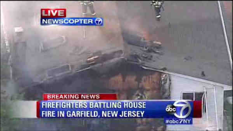 Fire Burns Through Home In Garfield N J Abc7 New York