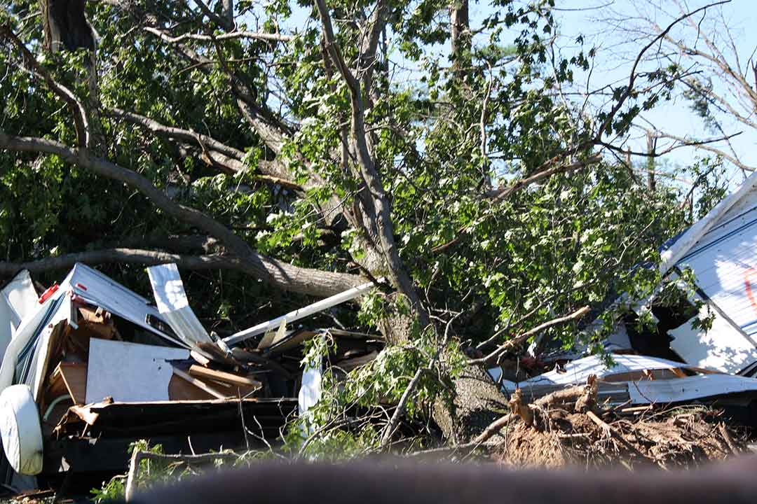 """<div class=""""meta image-caption""""><div class=""""origin-logo origin-image wls""""><span>WLS</span></div><span class=""""caption-text"""">Tornado damage in Sublette, Ill., the day after the storms. (Jennifer Thompson)</span></div>"""