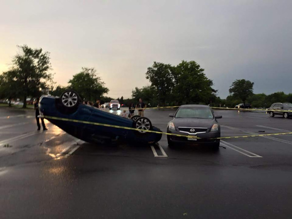 "<div class=""meta image-caption""><div class=""origin-logo origin-image none""><span>none</span></div><span class=""caption-text"">Chris Sowers: Here's a look at the cars flipped over at the Deptford Mall.</span></div>"