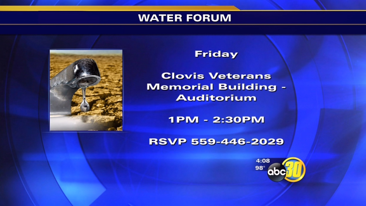 Water forum to be held at Clovis Veterans Memorial Building