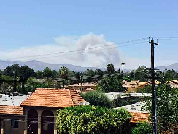 "<div class=""meta image-caption""><div class=""origin-logo origin-image kabc""><span>KABC</span></div><span class=""caption-text"">An ABC7 viewer sent us this photo taken in Panorama City of the Calgrove Fire burning in Santa Clarita Wednesday, June 24, 2015.</span></div>"