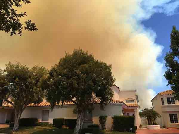 "<div class=""meta image-caption""><div class=""origin-logo origin-image kabc""><span>KABC</span></div><span class=""caption-text"">An ABC7 viewer sent us this photo taken in Stevenson Ranch of the Calgrove Fire burning in Santa Clarita Wednesday, June 24, 2015.</span></div>"