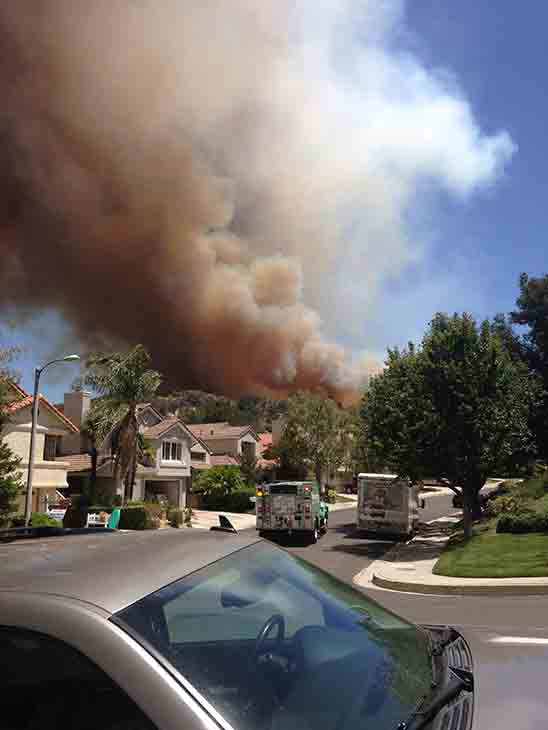"<div class=""meta image-caption""><div class=""origin-logo origin-image kabc""><span>KABC</span></div><span class=""caption-text"">An ABC7 viewer sent us this photo of the Calgrove Fire burning in Santa Clarita Wednesday, June 24, 2015.</span></div>"