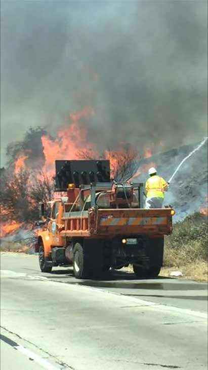 "<div class=""meta image-caption""><div class=""origin-logo origin-image none""><span>none</span></div><span class=""caption-text"">ABC7 viewer @JaseSaltybeats sent us this photo of the Calgrove Fire burning in Santa Clarita Wednesday, June 24, 2015. (https://twitter.com/JaseSaltybeats)</span></div>"