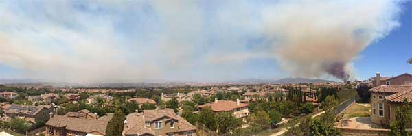 "<div class=""meta image-caption""><div class=""origin-logo origin-image kabc""><span>KABC</span></div><span class=""caption-text"">ABC7 viewer @teddieo sent us this panoramic photo of the Calgrove Fire burning in Santa Clarita Wednesday, June 24, 2015. (https://twitter.com/teddieo)</span></div>"