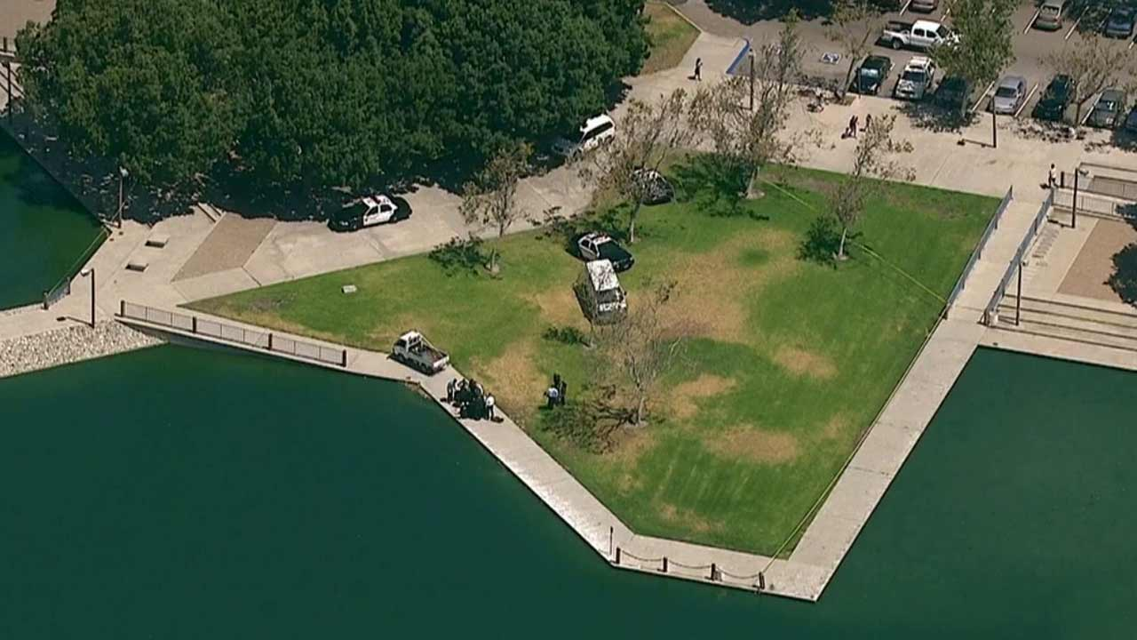 A maintenance worker found the body of a man in a lake at Centennial Regional Park in Santa Ana Wednesday, June 24, 2015.