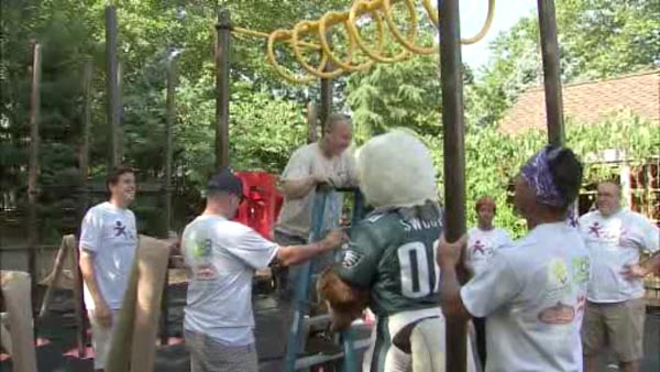 New playground built at Camden Children's Garden