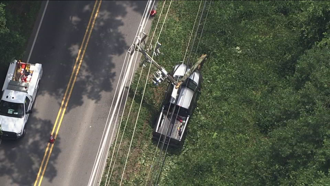 Crash causes Durham power outage