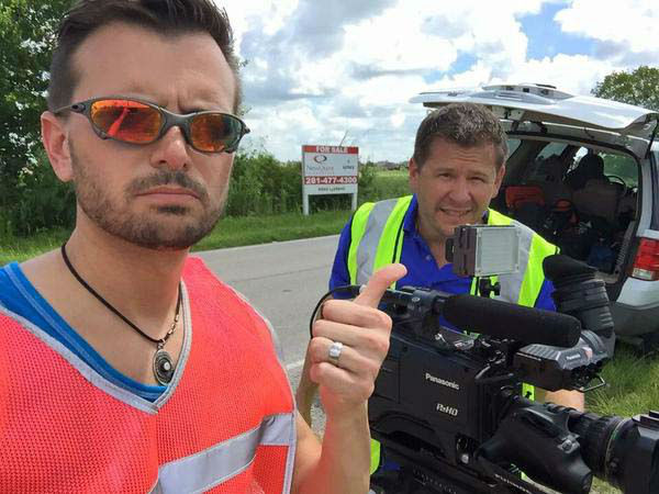 """<div class=""""meta image-caption""""><div class=""""origin-logo origin-image none""""><span>none</span></div><span class=""""caption-text"""">Photographers David Mackey and Chris Nocera practicing safety first with their mandated bright vests (KTRK Photo)</span></div>"""