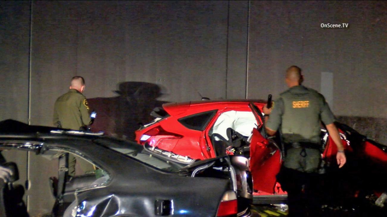The Orange County Sheriff's Department investigates a fatal crash in San Juan Capistrano on Thursday, June 25, 2015.