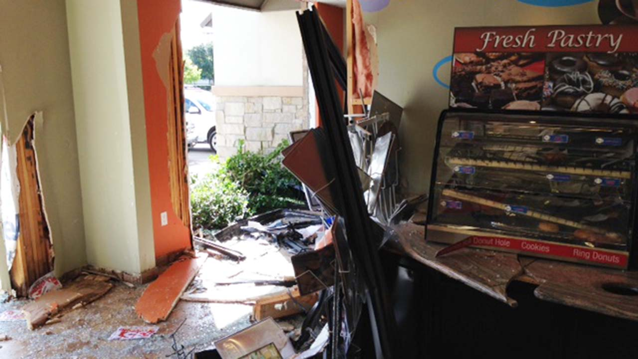 The damage seen at the Shell station on Wilson Road near Beltway 8.