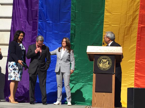 "<div class=""meta image-caption""><div class=""origin-logo origin-image none""><span>none</span></div><span class=""caption-text"">San Francisco Mayor Ed Lee asked, ""Did you hear the earth shake this morning?"" at City Hall following the Supreme Court ruling on same sex marriage on Friday, June 26, 2015. (KGO-TV)</span></div>"