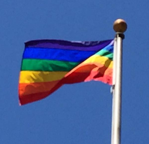 "<div class=""meta image-caption""><div class=""origin-logo origin-image none""><span>none</span></div><span class=""caption-text"">This pride flag is flying above the Santa Clara County Government Center after SCOTUS ruling on same sex marriage on Friday, June 26, 2015. (KGO-TV)</span></div>"