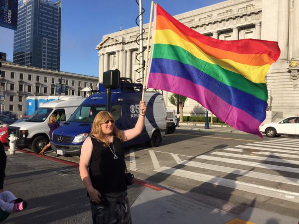 "<div class=""meta image-caption""><div class=""origin-logo origin-image none""><span>none</span></div><span class=""caption-text"">There is elation at San Francisco's City Hall following SCOTUS ruling on same sex marriage on Friday, June 26, 2015. (KGO-TV)</span></div>"