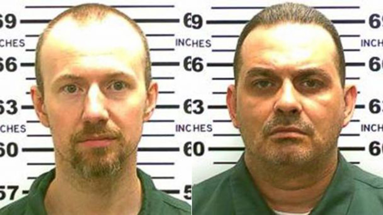 David Sweat (left) remains at large. Richard Matt (right) was shot and killed by police near Malone, New York Friday, June 29, 2015.