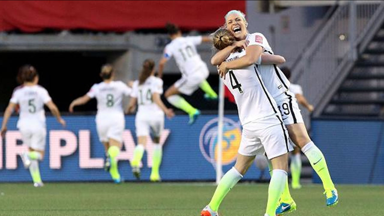 Team USA celebrates win over China in Women's World Cup