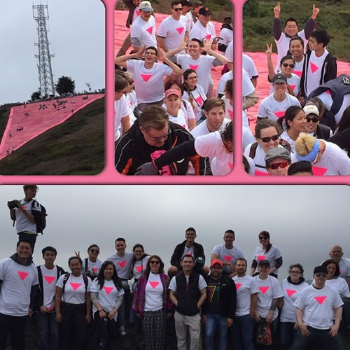 "<div class=""meta image-caption""><div class=""origin-logo origin-image none""><span>none</span></div><span class=""caption-text"">Team Starbucks at the Pink Triangle on Twin Peaks in San Francisco on Friday, June 27 , 2015. Tag your pride pics #abc7now. (Photo submitted to KGO-TV by sbux9213/Instagram)</span></div>"