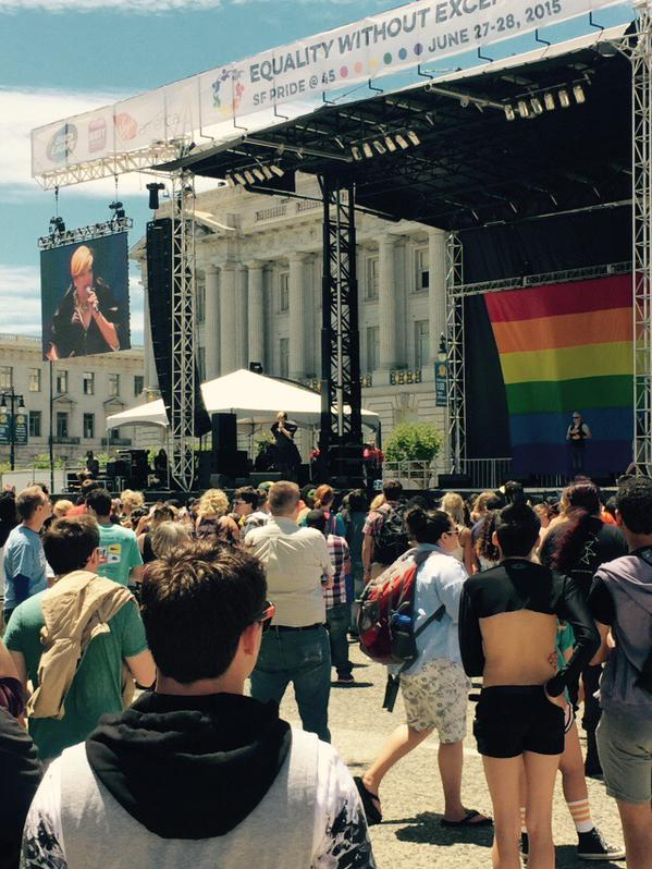 "<div class=""meta image-caption""><div class=""origin-logo origin-image none""><span>none</span></div><span class=""caption-text"">The San Francisco Pride celebration is on at Civic Center in San Francisco on Saturday, June 27, 2015. (KGO-TV)</span></div>"