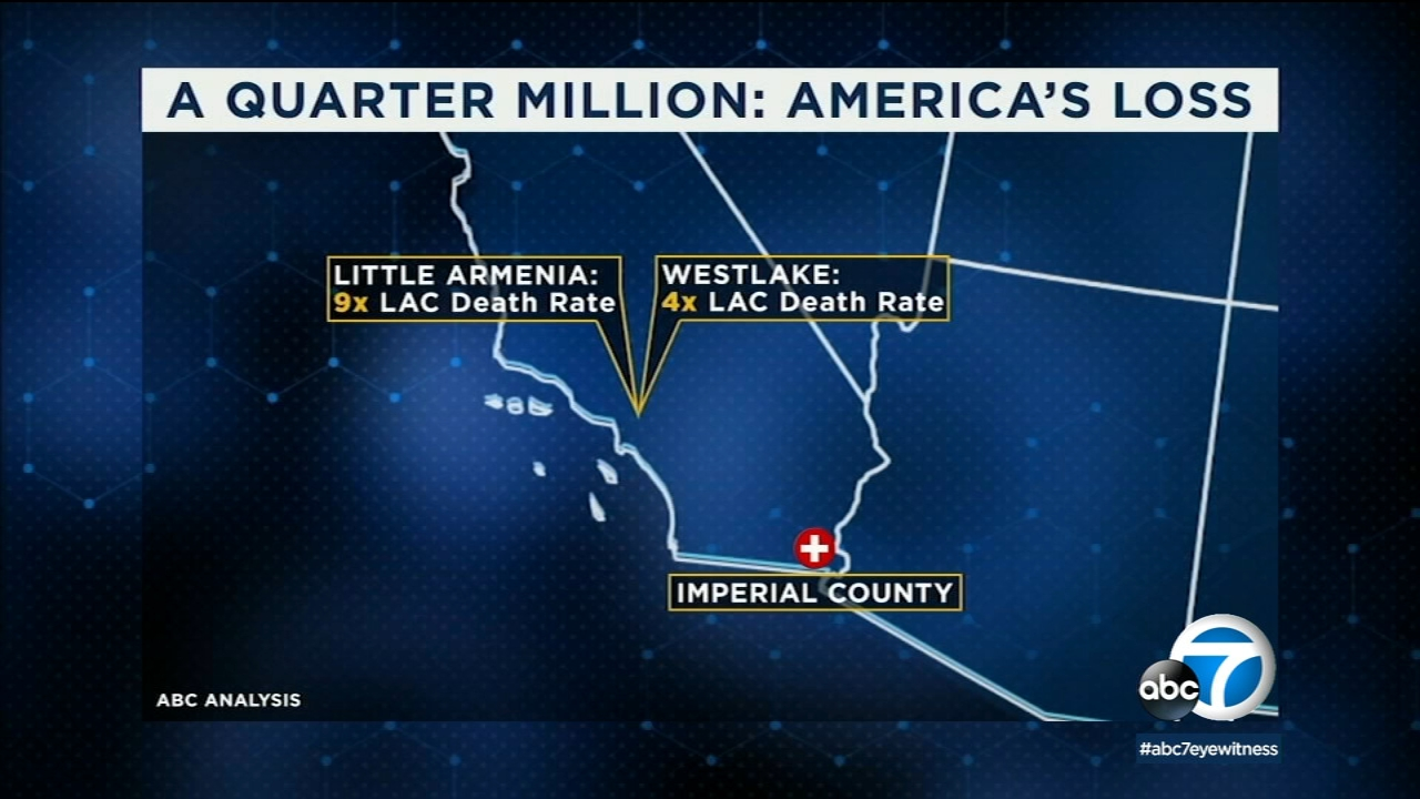 Map See Covid 19 Death Rates In Los Angeles County Orange County Riverside County San Bernardino County Ventura County Abc7 Los Angeles