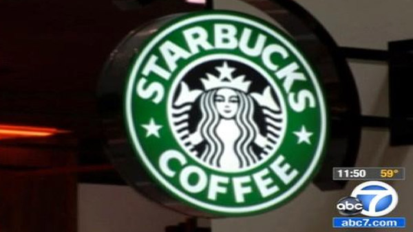 A Starbucks sign is seen in this undated file photo.