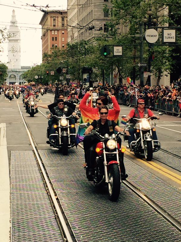 "<div class=""meta image-caption""><div class=""origin-logo origin-image none""><span>none</span></div><span class=""caption-text"">Thousands gather for the 45th annual Pride Parade and celebration in San Francisco on Sunday, June 28, 2015. Tag your pics on Facebook, Google Plus, Twitter and Instagram using #ab (KGO-TV)</span></div>"