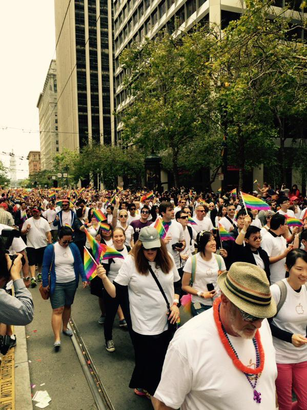"<div class=""meta image-caption""><div class=""origin-logo origin-image none""><span>none</span></div><span class=""caption-text"">Thousands of Apple employees march in San Francisco's Pride Parade on Sunday, June 28, 2015. (KGO-TV)</span></div>"