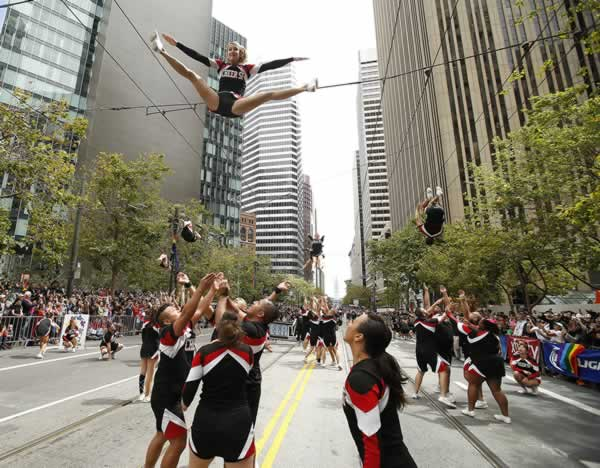 "<div class=""meta image-caption""><div class=""origin-logo origin-image none""><span>none</span></div><span class=""caption-text"">Cheer SF cheerleaders perform during 45th annual San Francisco Gay Pride parade Sunday, June 28, 2015, in San Francisco. (AP Photo/ Tony Avelar)</span></div>"