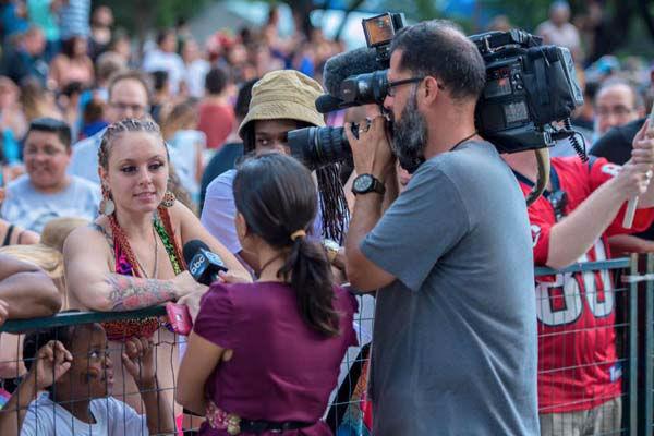 """<div class=""""meta image-caption""""><div class=""""origin-logo origin-image none""""><span>none</span></div><span class=""""caption-text"""">Pooja Lodhia and her photographer Francisco during Pride Parade (KTRK Photo)</span></div>"""