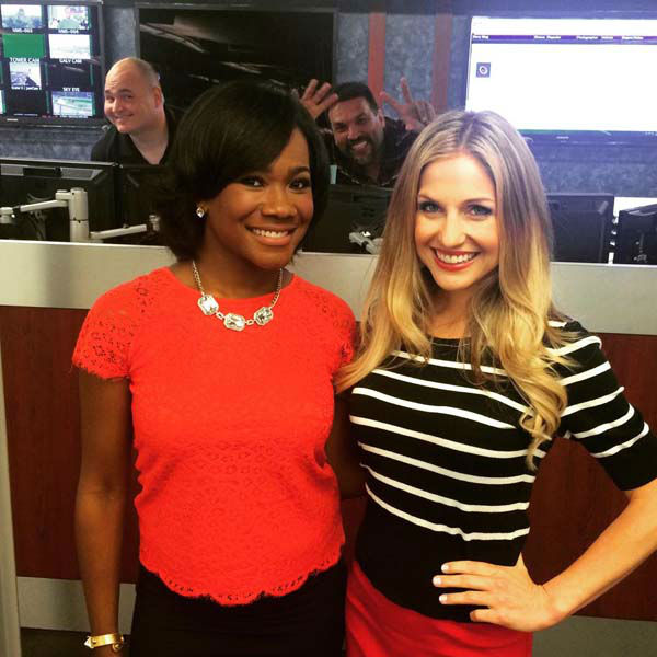 """<div class=""""meta image-caption""""><div class=""""origin-logo origin-image none""""><span>none</span></div><span class=""""caption-text"""">Samica Knight and Katherine Whaley got photobombed by some guys on the assignment desk (KTRK Photo)</span></div>"""